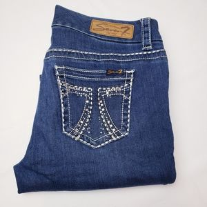 Seven 7 Slim Bootcut embellished pocket jeans